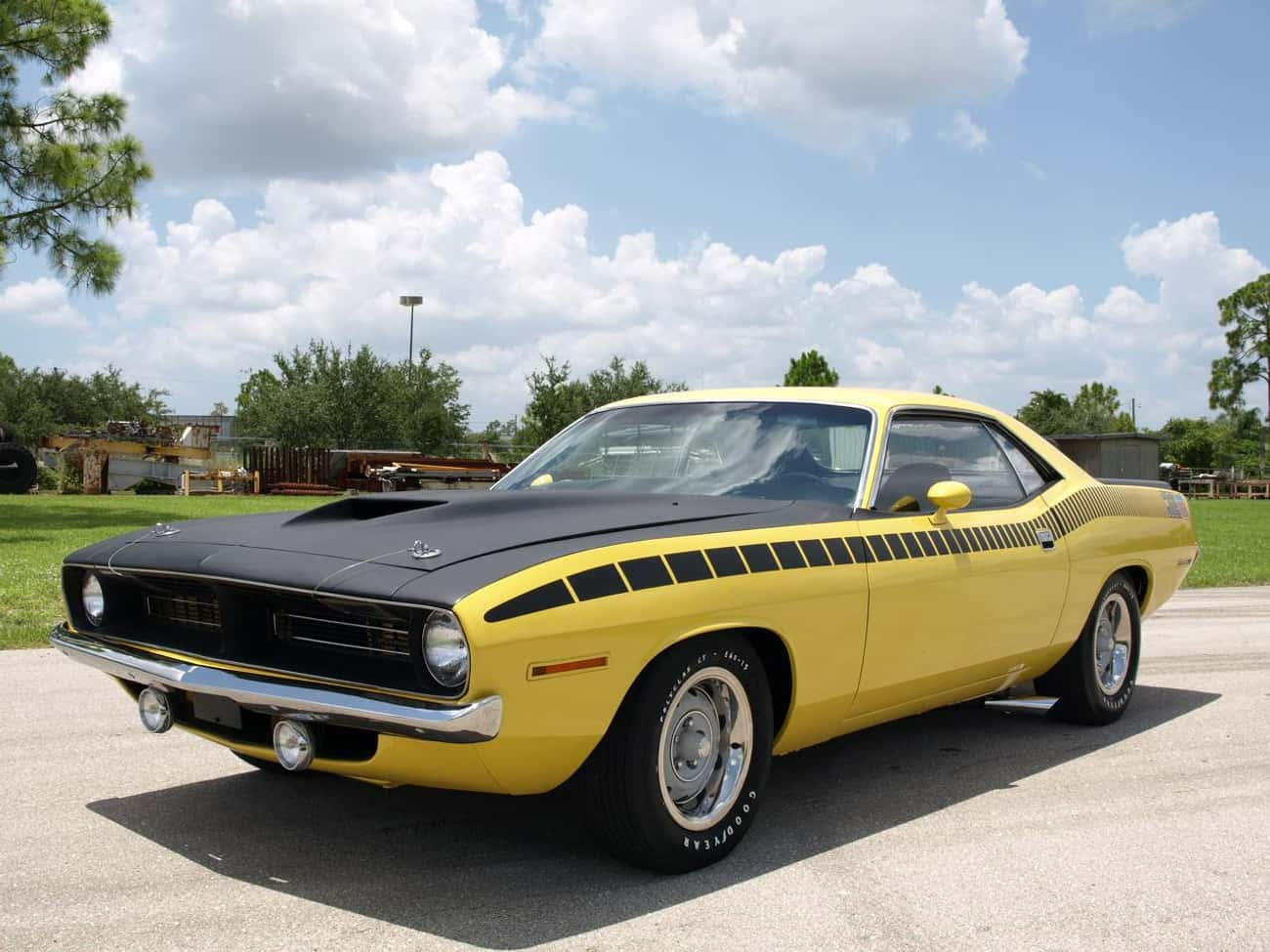 Plymouth AAR 'Cuda is listed (or ranked) 4 on the list The Best Muscle Cars