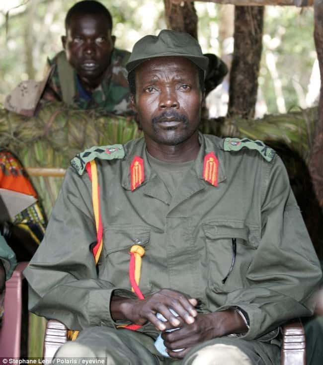 Joseph Kony is listed (or ranked) 7 on the list The Most Evil People Currently in Hiding