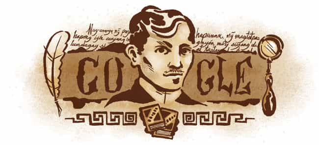José Rizal is listed (or ranked) 1182 on the list Every Person Who Has Been Immortalized in a Google Doodle
