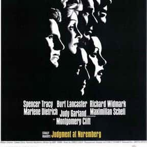 Judgment at Nuremberg is listed (or ranked) 18 on the list The Best Courtroom Drama Movies