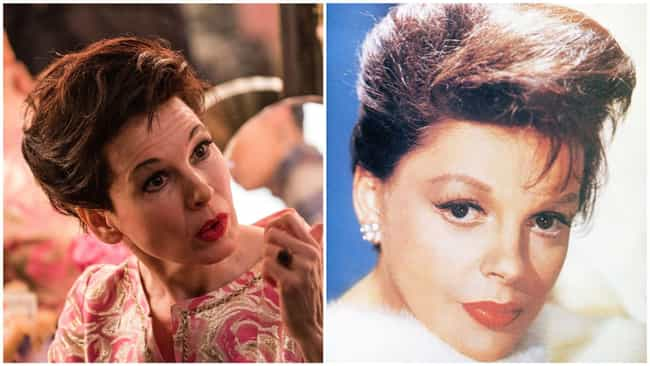Judy Garland is listed (or ranked) 1 on the list 'Judy' Actors Vs. The Real-Life People They're Portraying