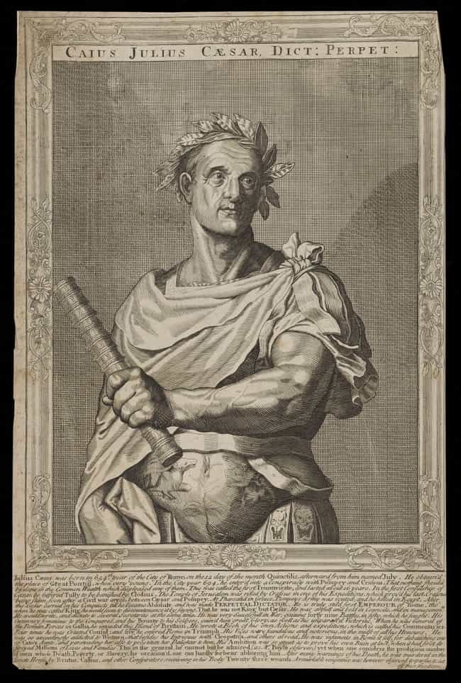 Julius Caesar is listed (or ranked) 4 on the list Signature Afflictions Suffered By History's Most Famous Despots
