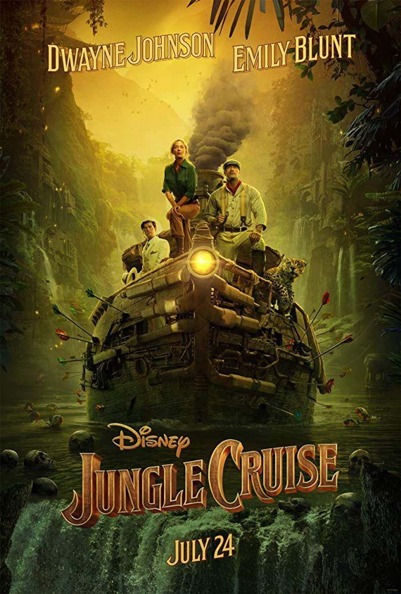 Jungle Cruise is listed (or ranked) 3 on the list The Coolest Movie Posters For 2020 Films