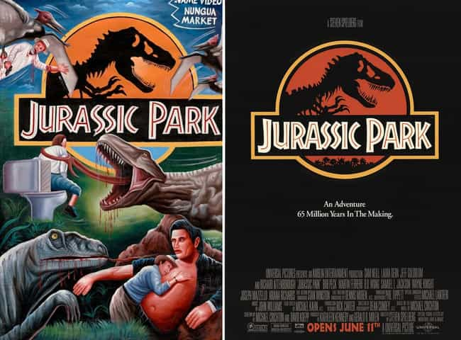 Jurassic Park is listed (or ranked) 1 on the list Delightfully Inaccurate Movie Posters From Ghana Vs. Their American Counterparts