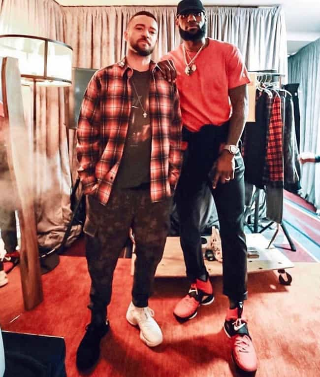 Justin Timberlake is listed (or ranked) 4 on the list The Many Celebrity Friends Of LeBron James