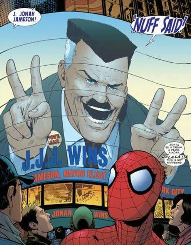 J. Jonah Jameson is listed (or ranked) 3 on the list A Surprising Amount Of Marvel Characters Have Run For Political Office