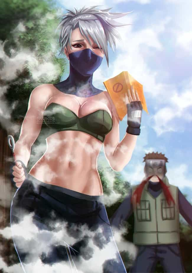 Kakashi Hatake is listed (or ranked) 2 on the list 25 Popular Male Anime Characters Drawn As Women