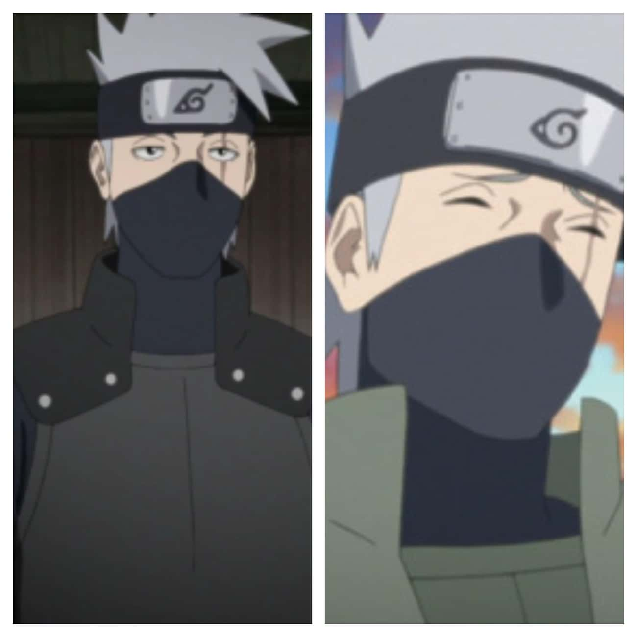 Kakashi Hatake is listed (or ranked) 4 on the list How Naruto Characters Look In Boruto Compared To Their Original Form