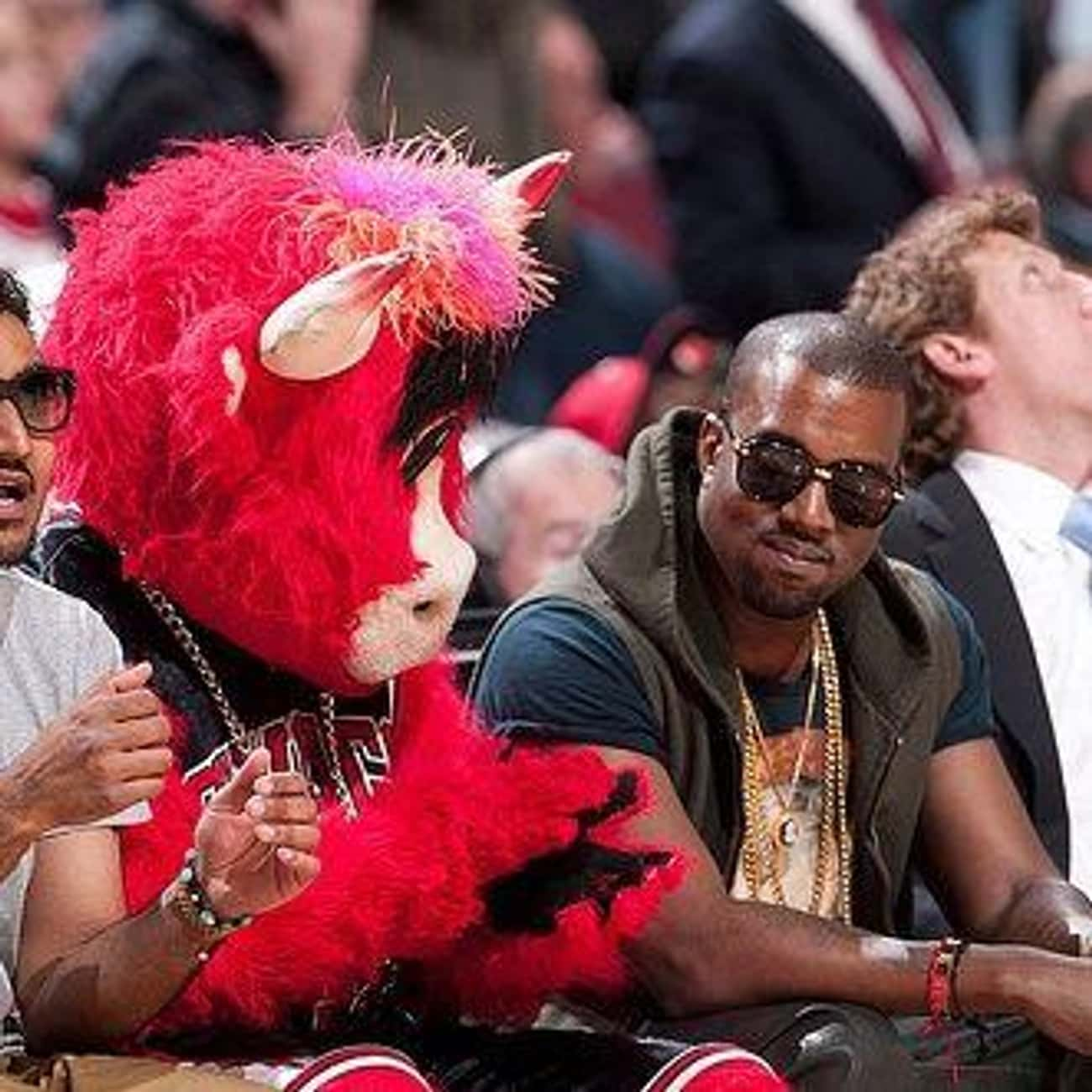 Kanye West is listed (or ranked) 2 on the list Celebrity Bulls Fans