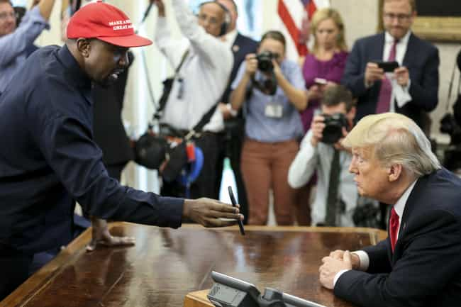 Kanye West is listed (or ranked) 1 on the list Celebrities Who Have Met With Donald Trump Since He Was Elected