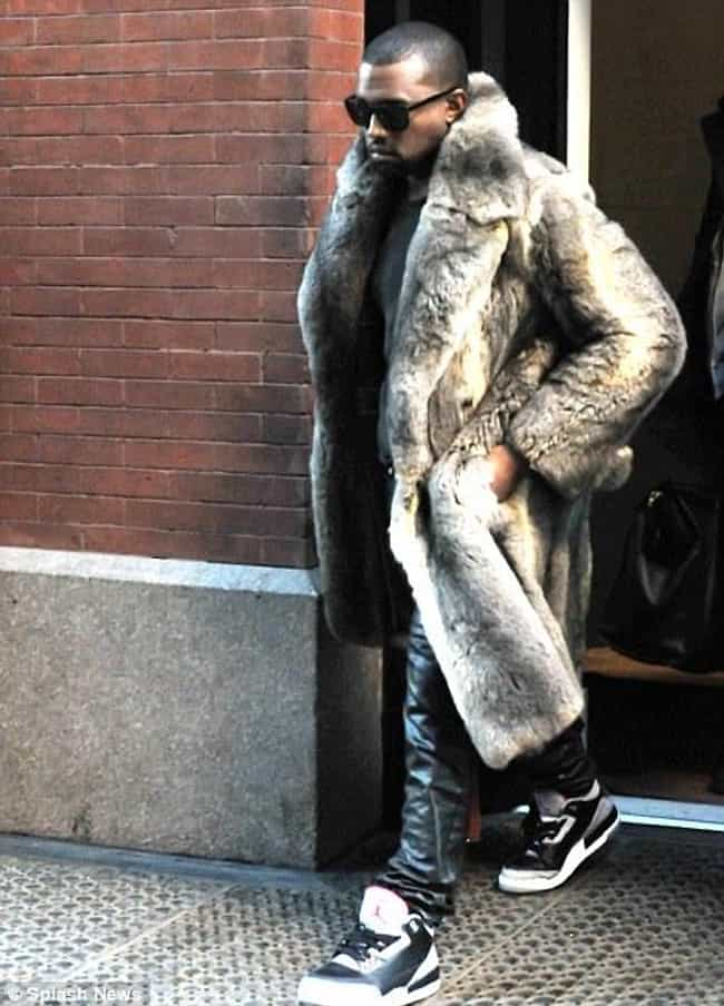 Kanye West is listed (or ranked) 4 on the list 35+ Celebrities Who Wear Fur