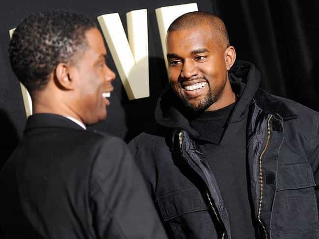 Kanye West is listed (or ranked) 3 on the list Famous Friends of Chris Rock