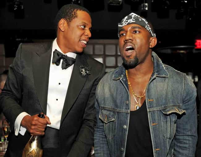 Kanye West is listed (or ranked) 4 on the list Famous Friends of Jay-Z