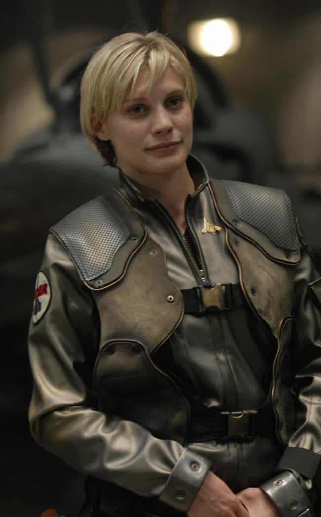 Kara Thrace is listed (or ranked) 4 on the list The Best Bangs That Ever Existed on Television