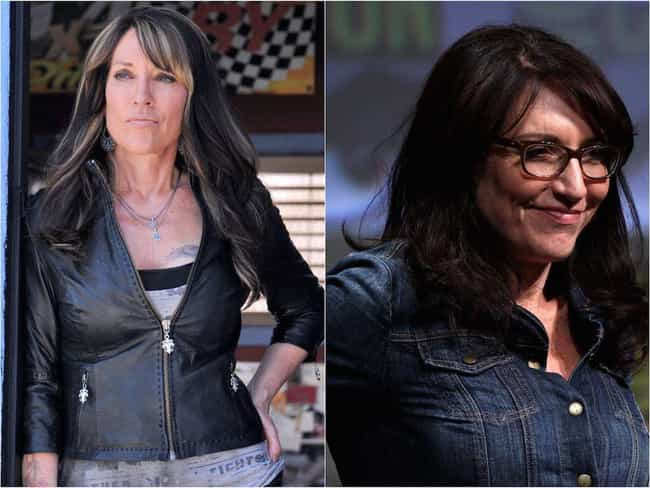 Katey Sagal is listed (or ranked) 2 on the list The 'Sons Of Anarchy' Cast Out Of Costume