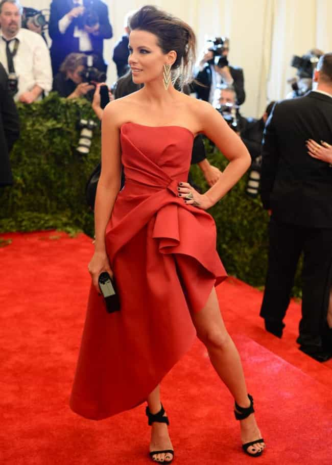 Kate Beckinsale is listed (or ranked) 3 on the list The Most Beautiful Celebrity in Red Dress