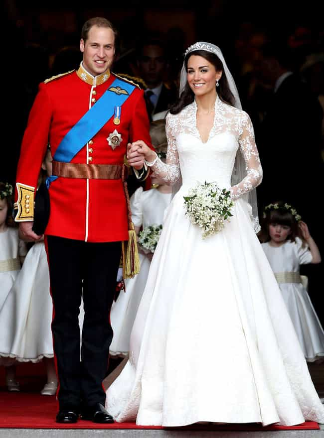 Catherine, Duchess of Ca... is listed (or ranked) 2 on the list The Most Stunning Celebrity Wedding Dresses