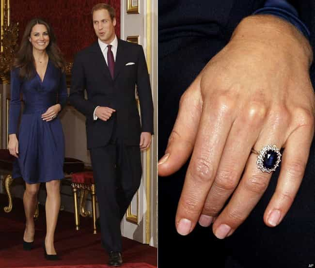 Catherine, Duchess of Cambridg... is listed (or ranked) 1 on the list The Most Fabulous Celebrity Engagement Rings