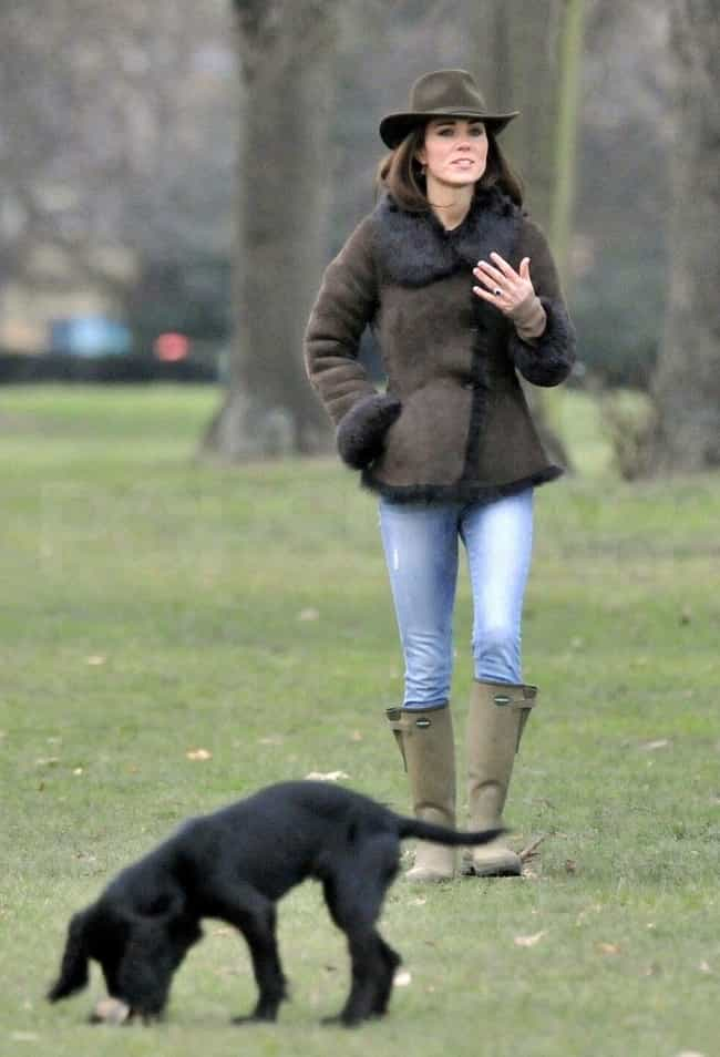 Catherine, Duchess of Cambridg... is listed (or ranked) 5 on the list The Best Photos of Celebrities Walking Their Dogs