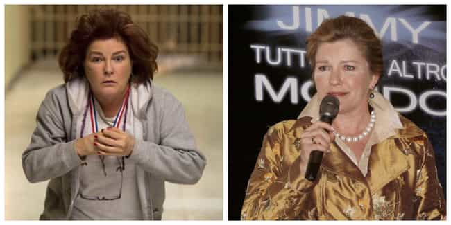 Kate Mulgrew is listed (or ranked) 3 on the list 'Orange Is The New Black' Characters Out Of Their Prison Jumpsuits