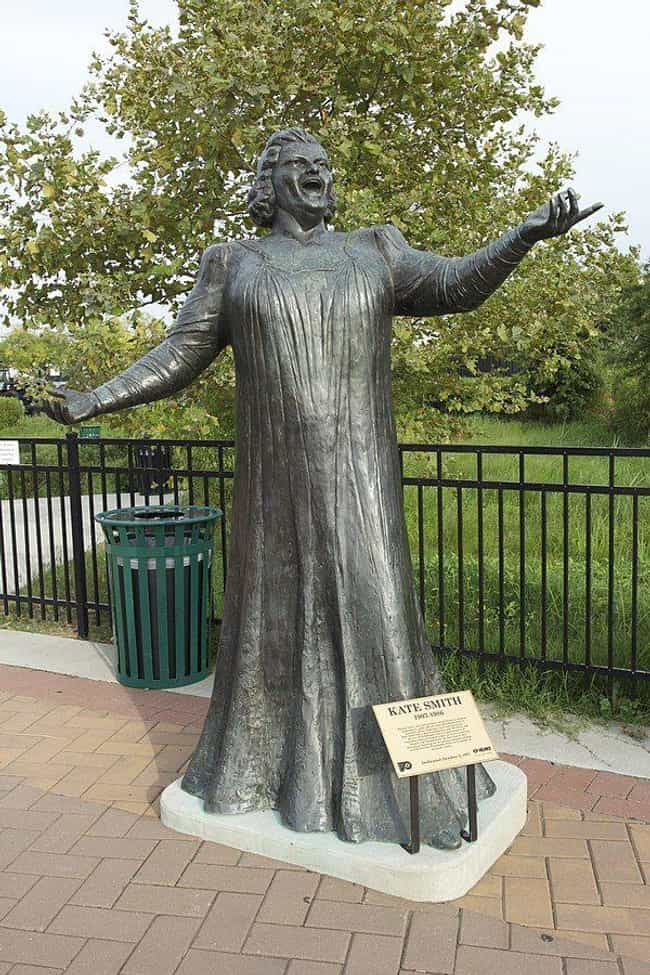 Kate Smith is listed (or ranked) 1 on the list 12 Monuments That Were Removed in Disgrace
