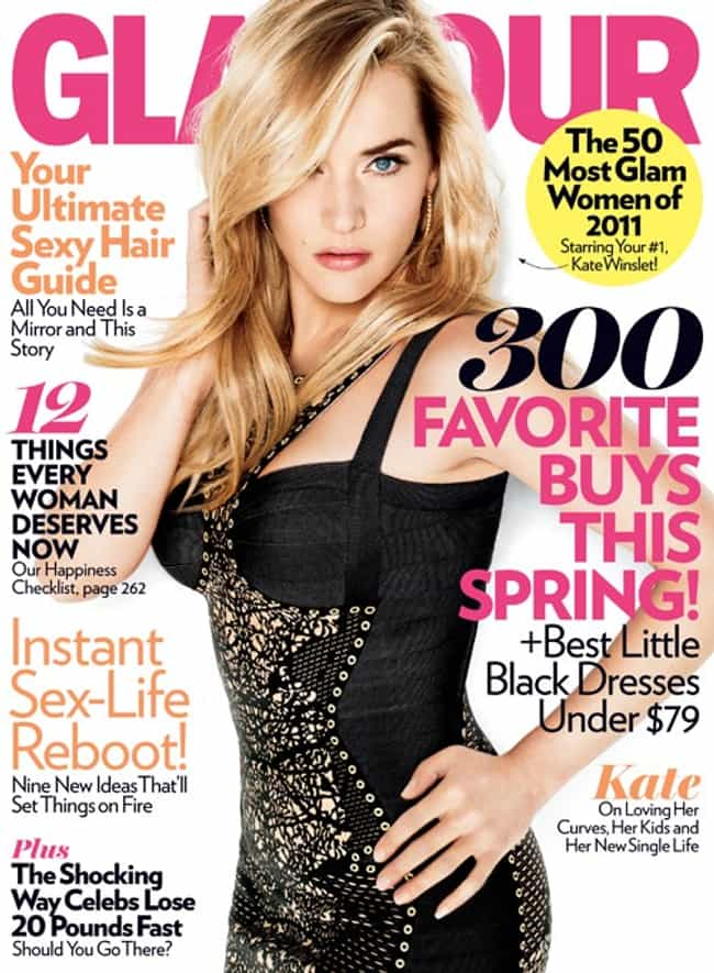 Kate Winslet is listed (or ranked) 1 on the list The Best Glamour Covers