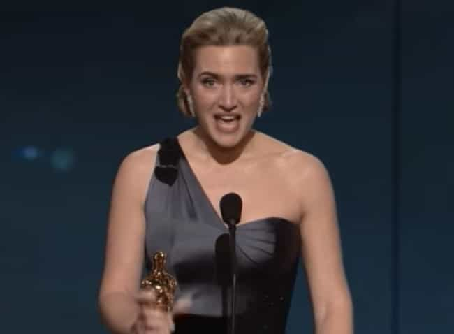 Kate Winslet is listed (or ranked) 4 on the list Weird Things Academy Award Winning Actors Have Done With Their Oscar Statues