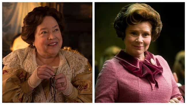 Kathy Bates is listed (or ranked) 2 on the list Who Would Star In An Americanized 'Harry Potter'?