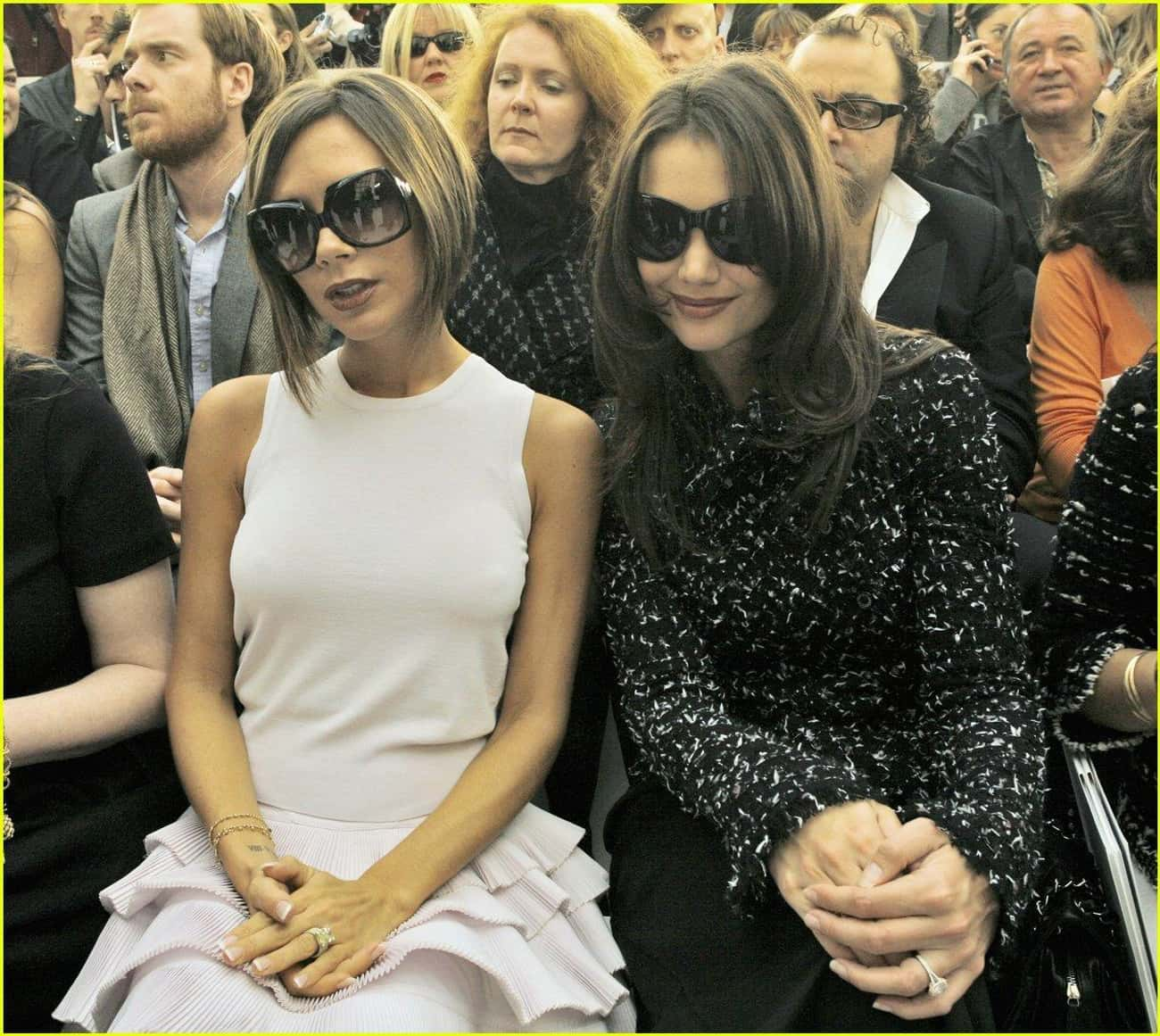 Katie Holmes is listed (or ranked) 2 on the list Famous Friends of Victoria Beckham