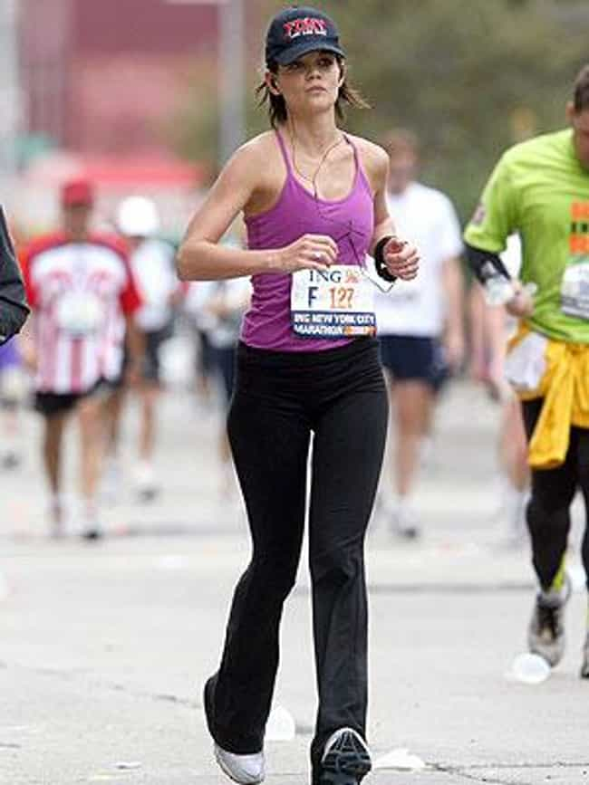 Katie Holmes is listed (or ranked) 1 on the list Celebrities Who Have Run Marathons