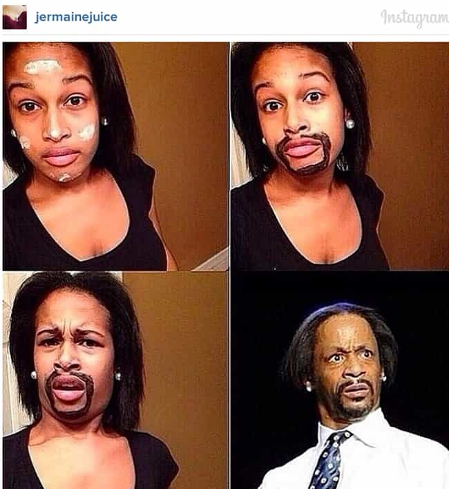 Kat Williams is listed (or ranked) 1 on the list 60+ Unbelievable #MakeupTransformations