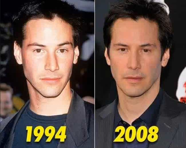Keanu Reeves is listed (or ranked) 3 on the list 20 Celebrities Who Never Seem to Age a Day