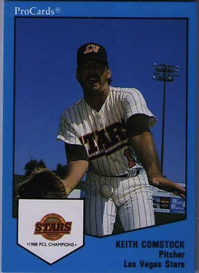 Keith Comstock is listed (or ranked) 2 on the list 17 of the Funniest Baseball Cards Ever Printed