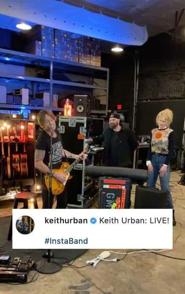 Keith Urban Went Live With A Whole Band