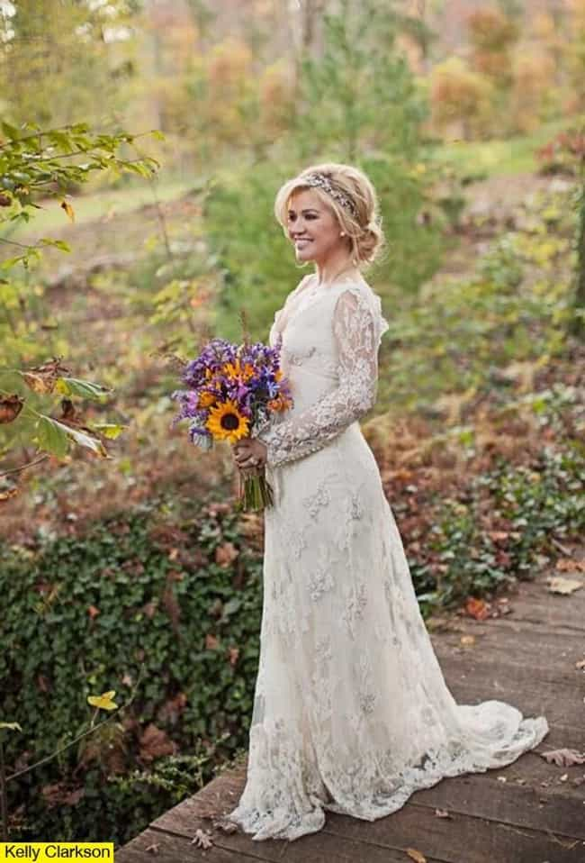 Kelly Clarkson is listed (or ranked) 3 on the list The Most Stunning Celebrity Wedding Dresses