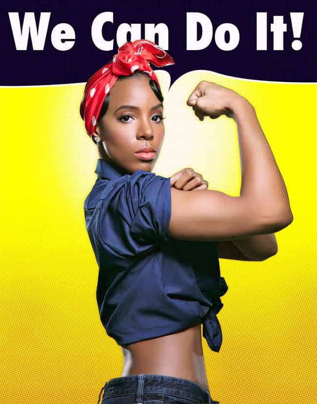 Kelly Rowland is listed (or ranked) 2 on the list 16 Celebrities as Rosie the Riveter
