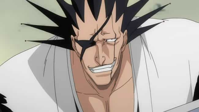 Kenpachi Zaraki is listed (or ranked) 4 on the list 15 Super Tough Anime Characters Who Aren't Afraid of a Fight