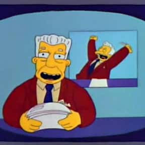 Kent Brockman is listed (or ranked) 21 on the list The Greatest Journalist Characters in Film