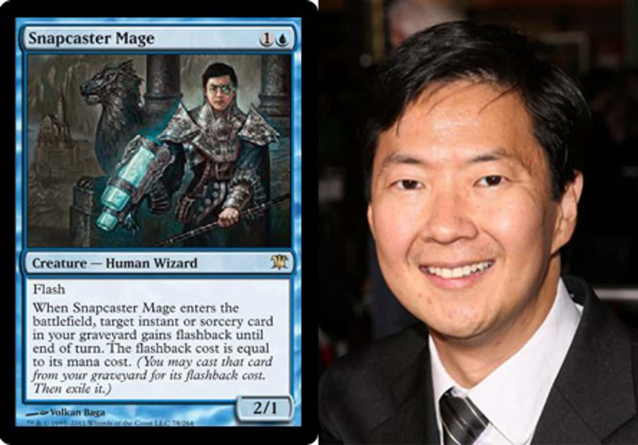 Ken Jeong is listed (or ranked) 4 on the list 23 Magic Cards That Look Like Celebrities