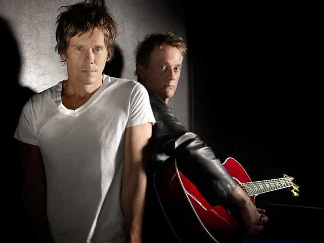 Kevin Bacon is listed (or ranked) 4 on the list 35 Celebrities Who Play in a Band