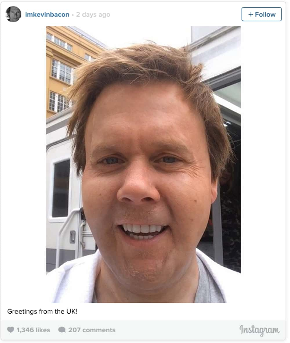 Kevin Bacon is listed (or ranked) 1 on the list The 38 Most Embarrassing Celebrity Selfies