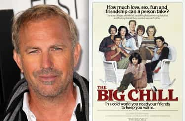 Kevin Costner - The Big Chill is listed (or ranked) 2 on the list 22 Famous Actors Who Were Entirely Cut Out Of Movies