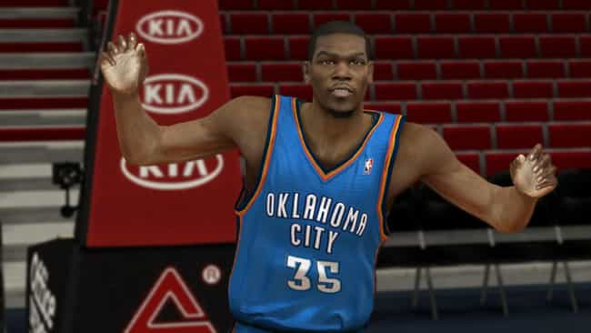 Kevin Durant is listed (or ranked) 2 on the list The Top NBA 2K13 Players