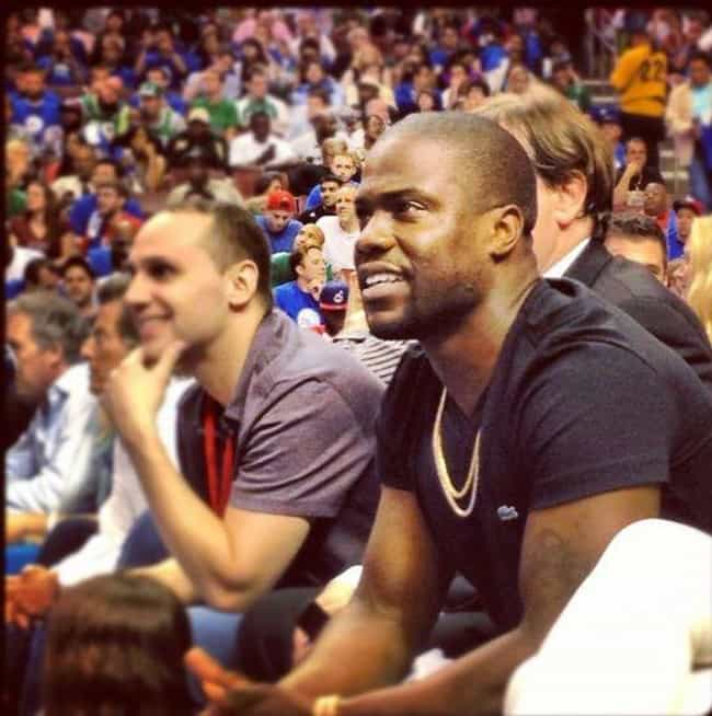 Kevin Hart is listed (or ranked) 3 on the list Celebrity 76er Fans