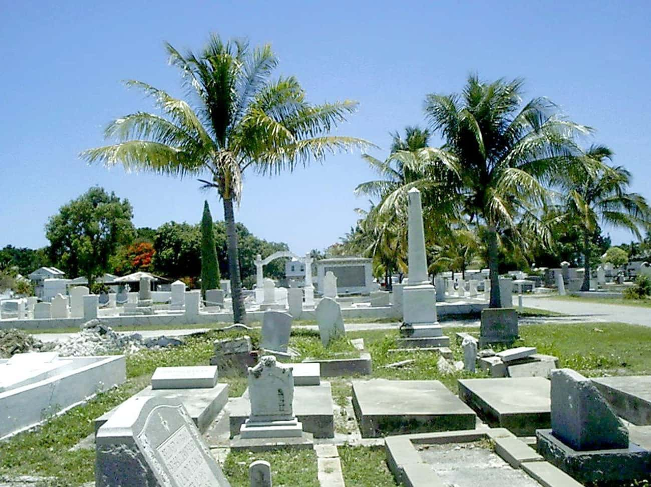Key West Cemetery, Where Over  is listed (or ranked) 3 on the list The Most Haunted Locations In Florida That You Can Actually Visit