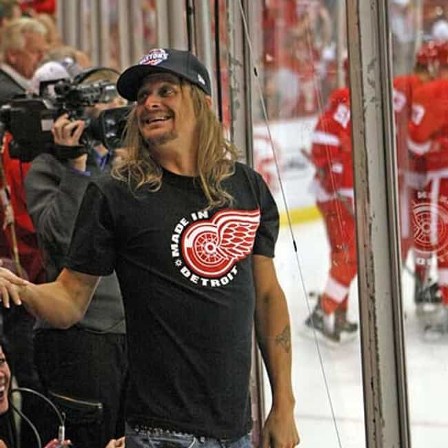 Kid Rock is listed (or ranked) 2 on the list Celebrity Red Wings Fans