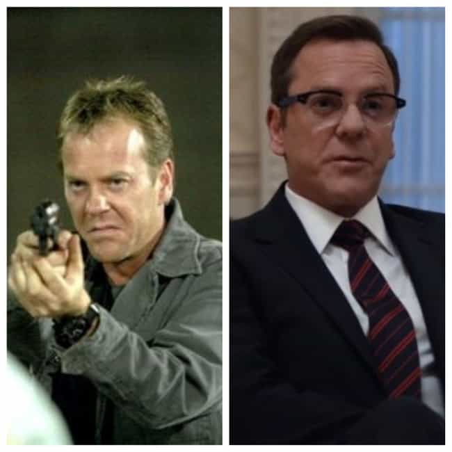 Kiefer Sutherland is listed (or ranked) 1 on the list The Cast Of '24': Where Are They Now?