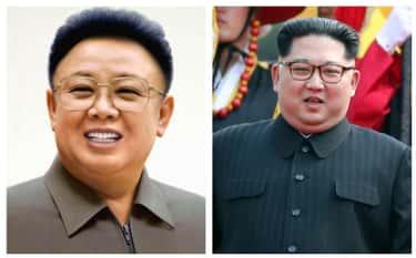 Kim Jong-Il And Son Kim Jong-Un