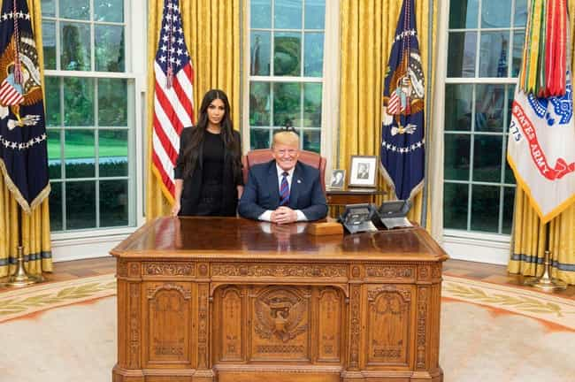 Kim Kardashian is listed (or ranked) 2 on the list Celebrities Who Have Met With Donald Trump Since He Was Elected