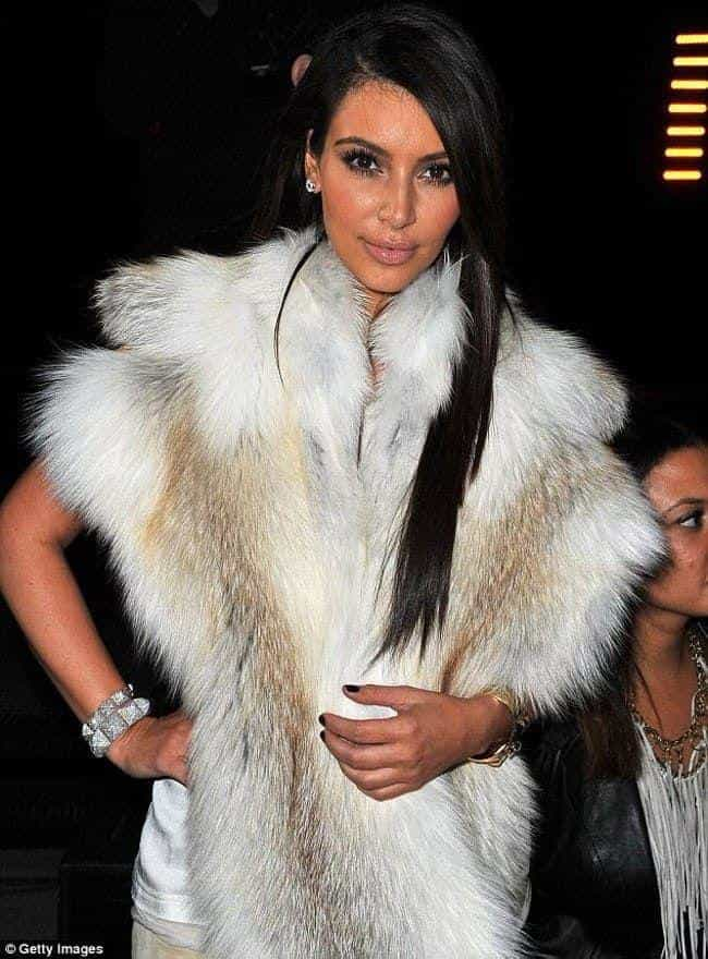 Kim Kardashian is listed (or ranked) 1 on the list 35+ Celebrities Who Wear Fur